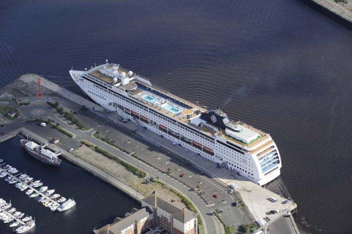 Cruise Ship At Port of Tyne Northumbrian Quay