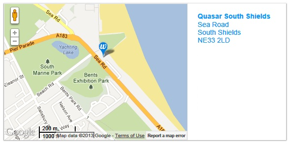 Quasar South Shields Map