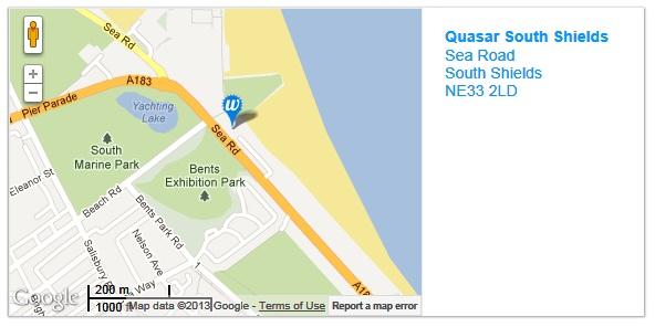 Quasar South Shields Map