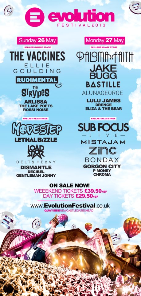 NewcastleGateshead Evolution Festival 2013 flyer
