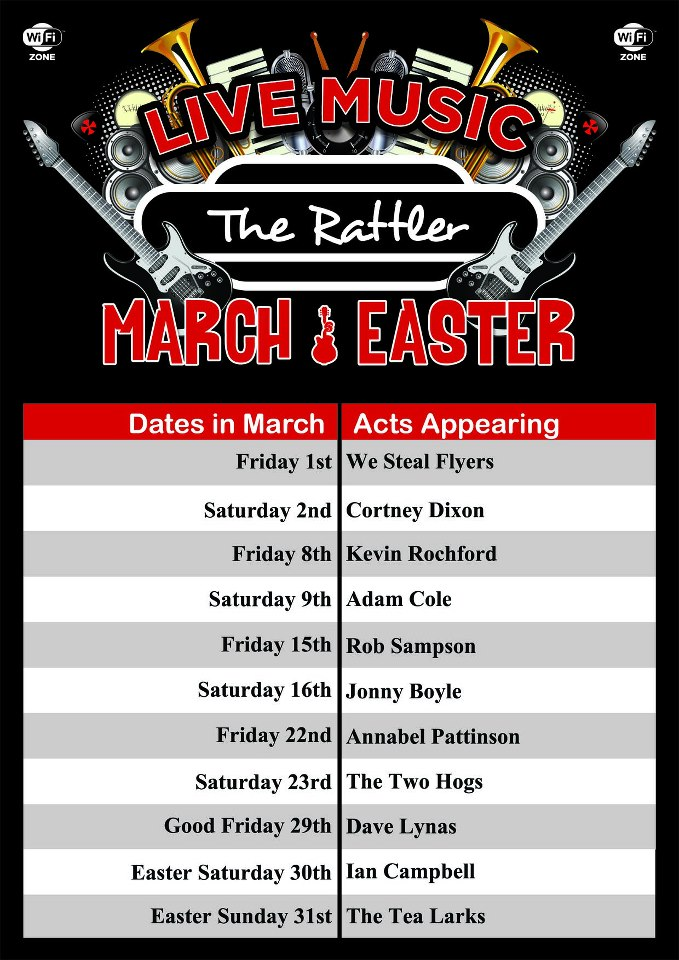 The Rattler live music for March 2013