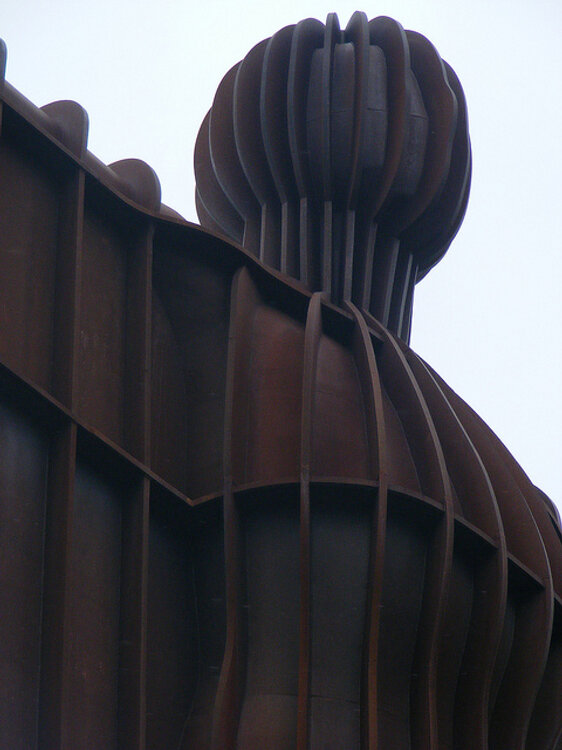 Angel of the North in Gateshead Up Close