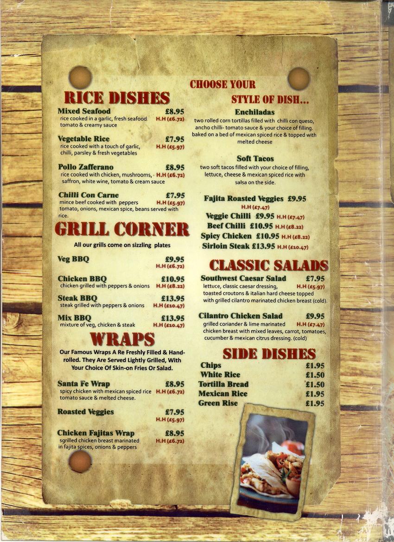 La Tortilla Mexican Restaurant In Whitley Bay Menu 2