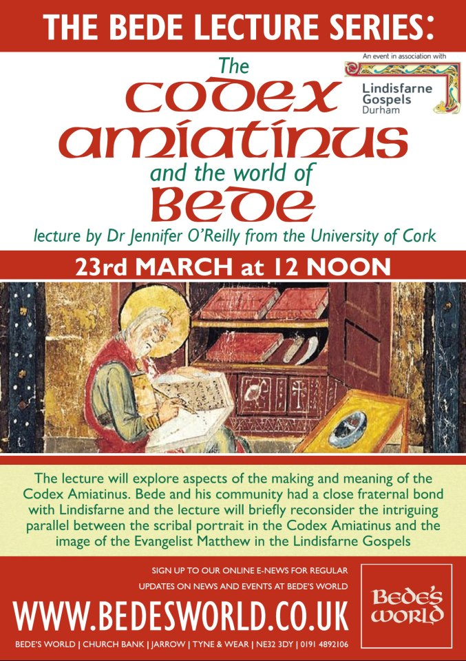 Codex Amiatinus Lecture at Bede's World Jarrow NE32 3DY Flyer