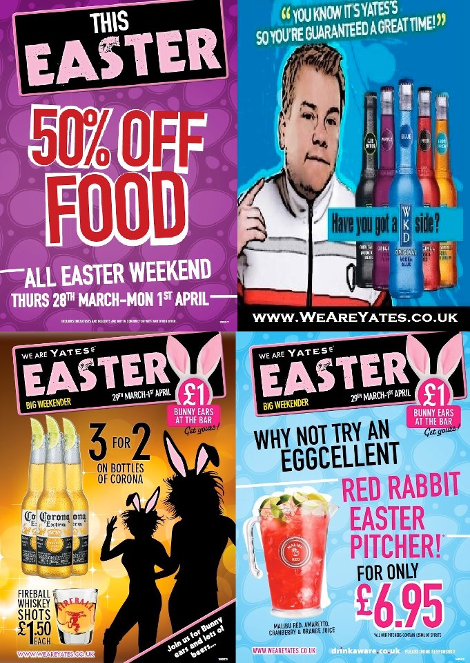 Yates Easter Deals, Mile End Road NE33 1TA Flyer