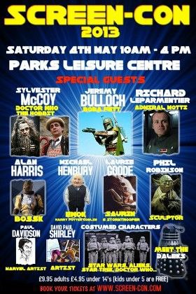 Screen-Con 2013 At The Parks Leisure Centre North Shields Flyer