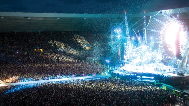 Concert at the Stadium of Light in Sunderland