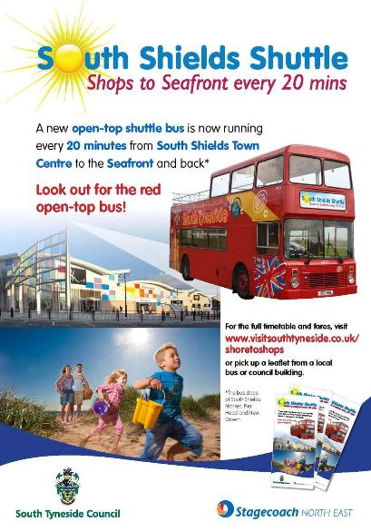 South Shields Shuttle Bus From Town to Beach