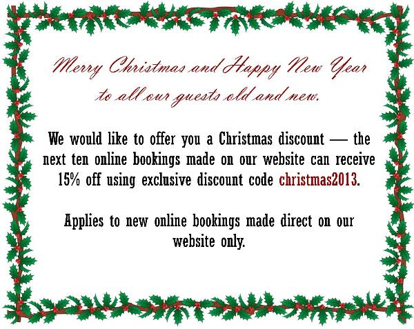 Annie's Guest House Special Offer Christmas 2013