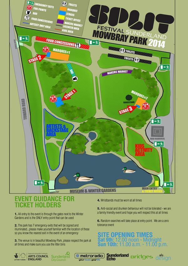 Split Festival Mowbray Park Sunderland SR1 1PP
