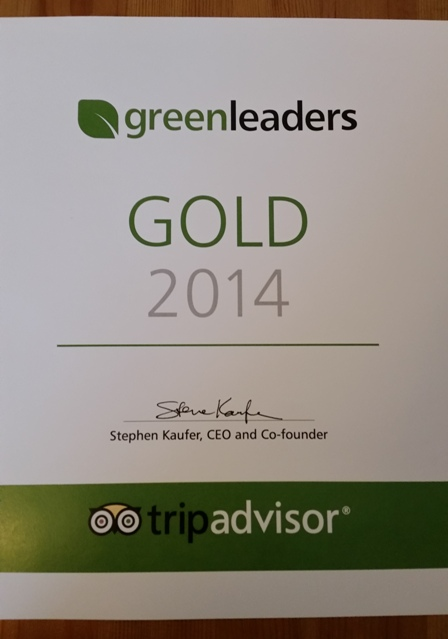 Annie's Guest House South Shields Trip Advisor Gold Award 2014