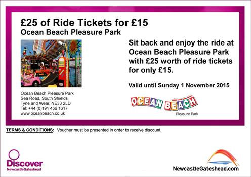 Ocean Beach Pleasure Park South Shields Discount Voucher 2015