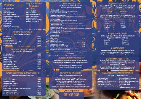 Eastern Promise Unit 4 Pelaw Industrial Estate Pelaw Gateshead NE10 Menu 2