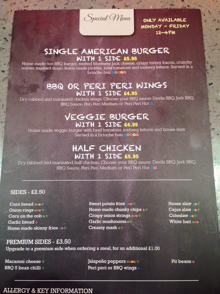 Man Vs Food Tyne Dock South Shields Special Menu Large