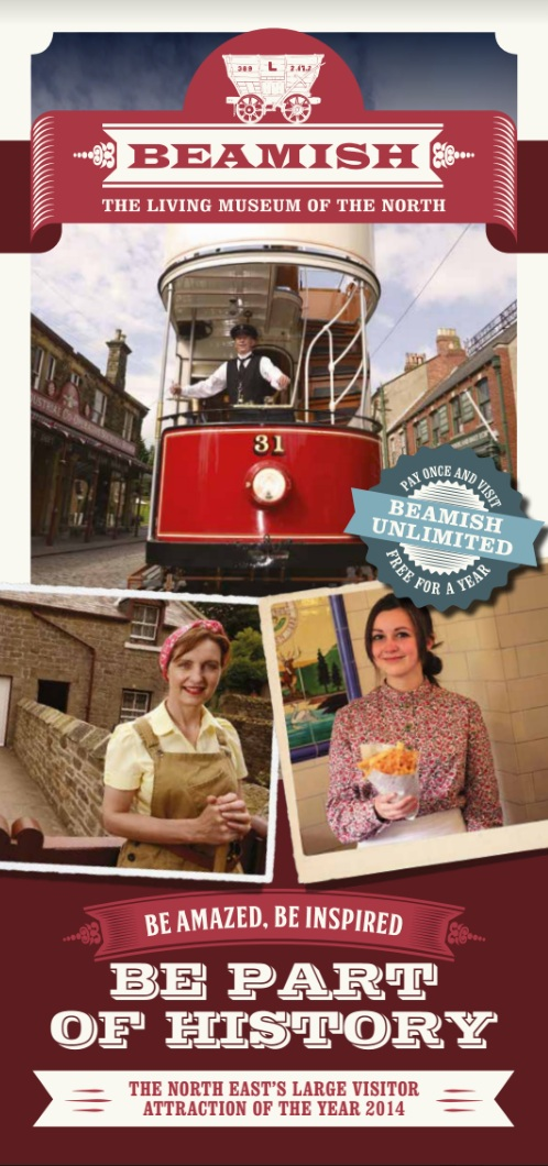 Beamish Museum County Durham DH9 0RG 2015 Flyer Cover