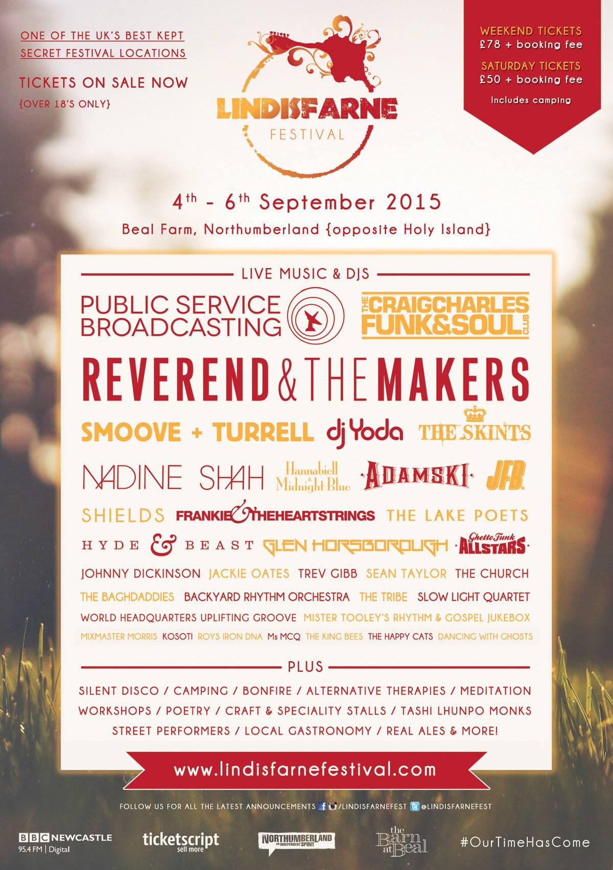 Lindisfarne Festival 2015