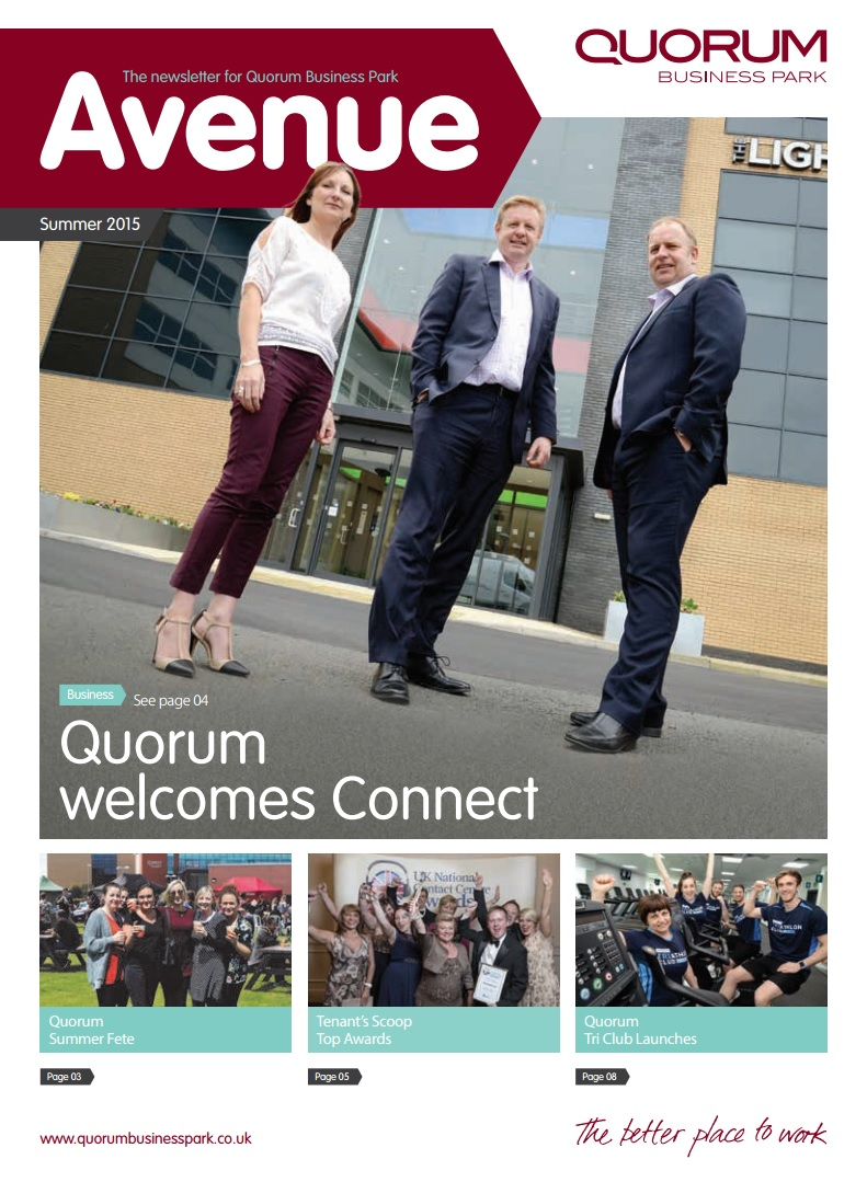 Quorum Business Park Newsletter Summer 2015 Cover