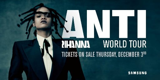 Rihanna Sunderland Stadium of Light Anti World Tour 18th June 2016