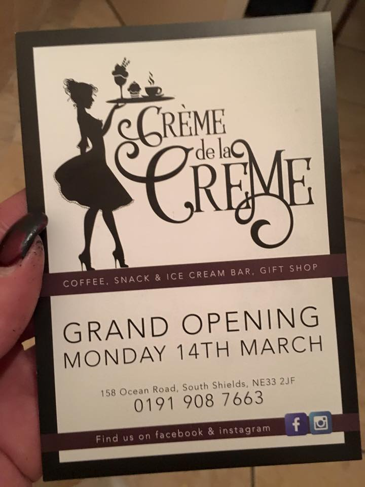 Crème de la Crème 158 Ocean Road South Shields NE33 4JS Voucher 1