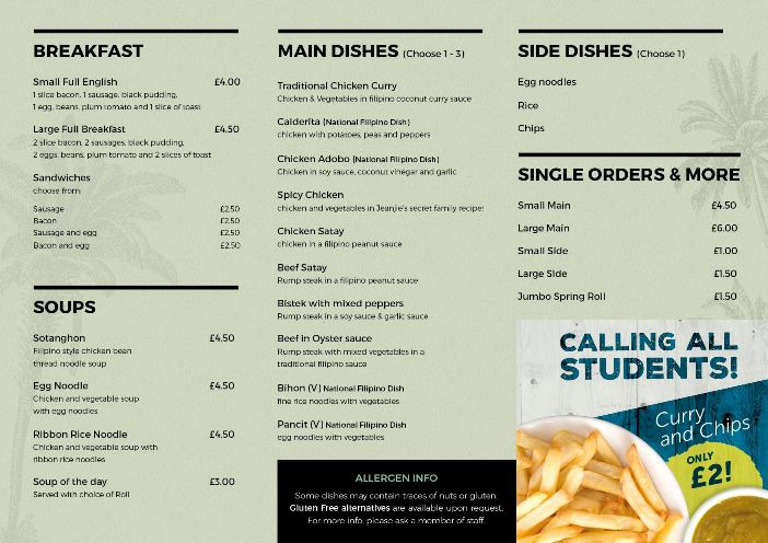 Visayas Bistro 289 Sunderland Road South Shields NE34 6RB Menu 2