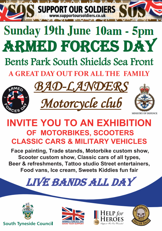 Armed Forces Day Bents Park South Shields NE33 2LD
