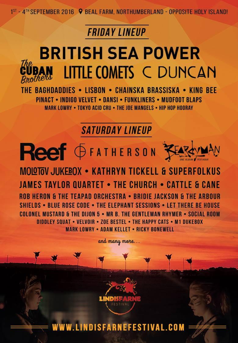 Lindisfarne Festival 2016