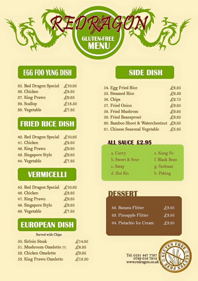 Gluten Free Chinese Restaurant In South Shields
