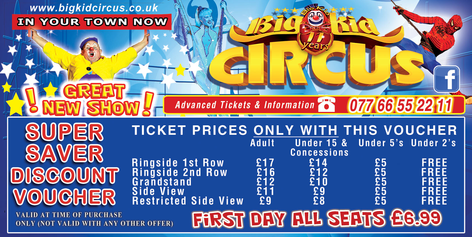 Big Kid Circus Discount Voucher