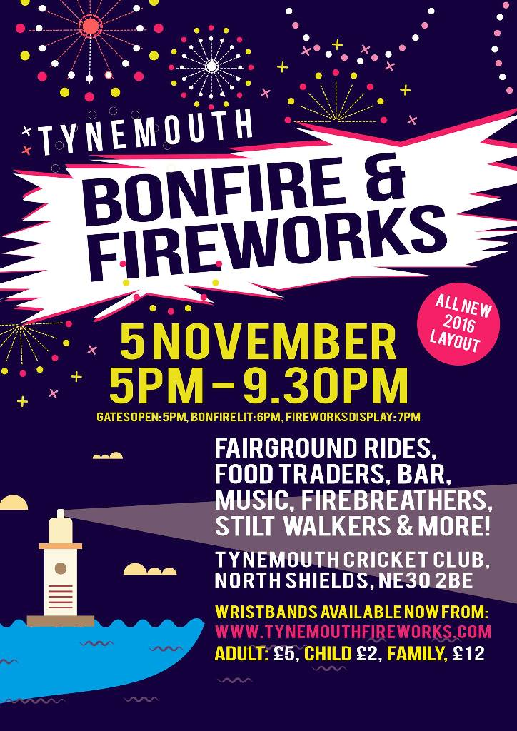 Tynemouth Bonfire & Fireworks Flyer