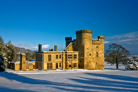Belsay Hall Castle and Gardens Belsay Northumberland NE20 0DX Winter Exterior