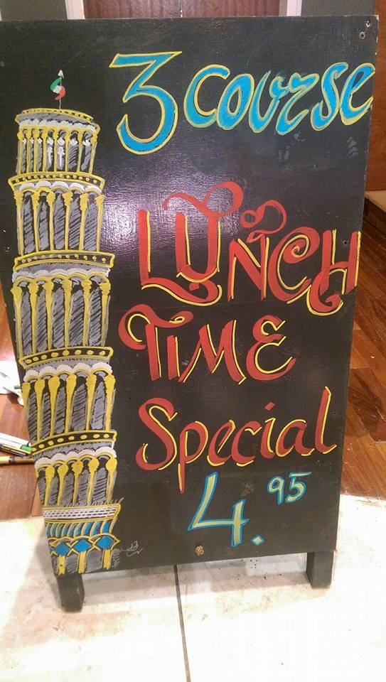 Bell Passi Italian Kitchen 70 Ocean Road South Shields NE33 2JD Lunch Time Special