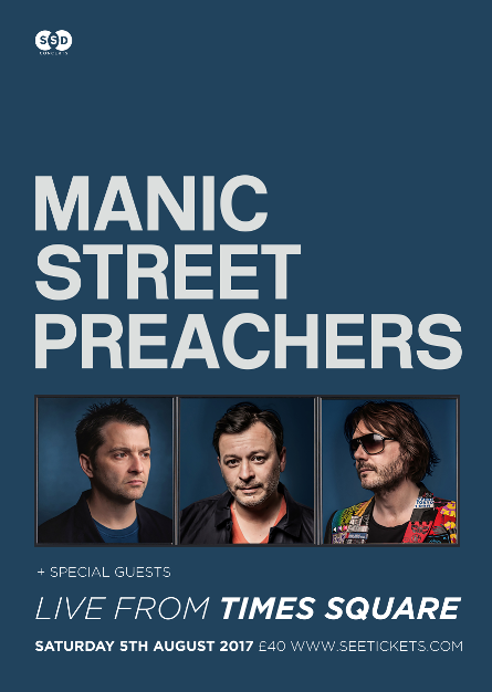 Manic Street Preachers Live From Times Square Newcastle upon Tyne NE1 4EP
