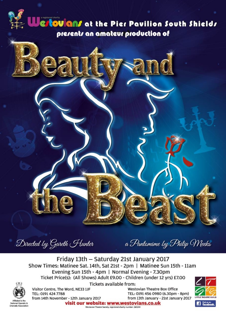 Beauty And The Beast At Westovian Theatre Pier Pavilion Pier Parade South Shields NE33 2JS