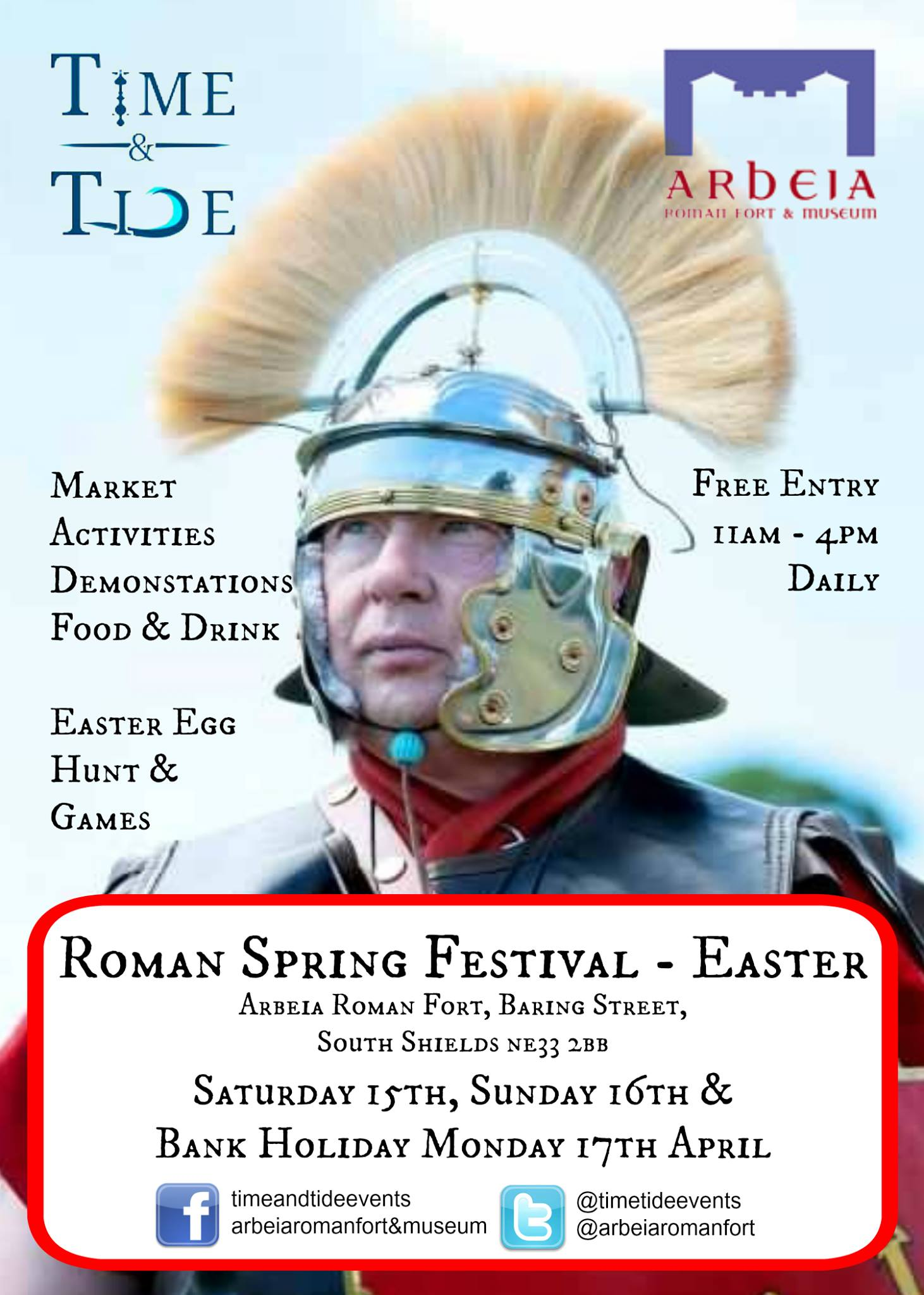 Roman Spring Festival At Arbeia Roman Fort Baring Street South Shields NE33 2BB