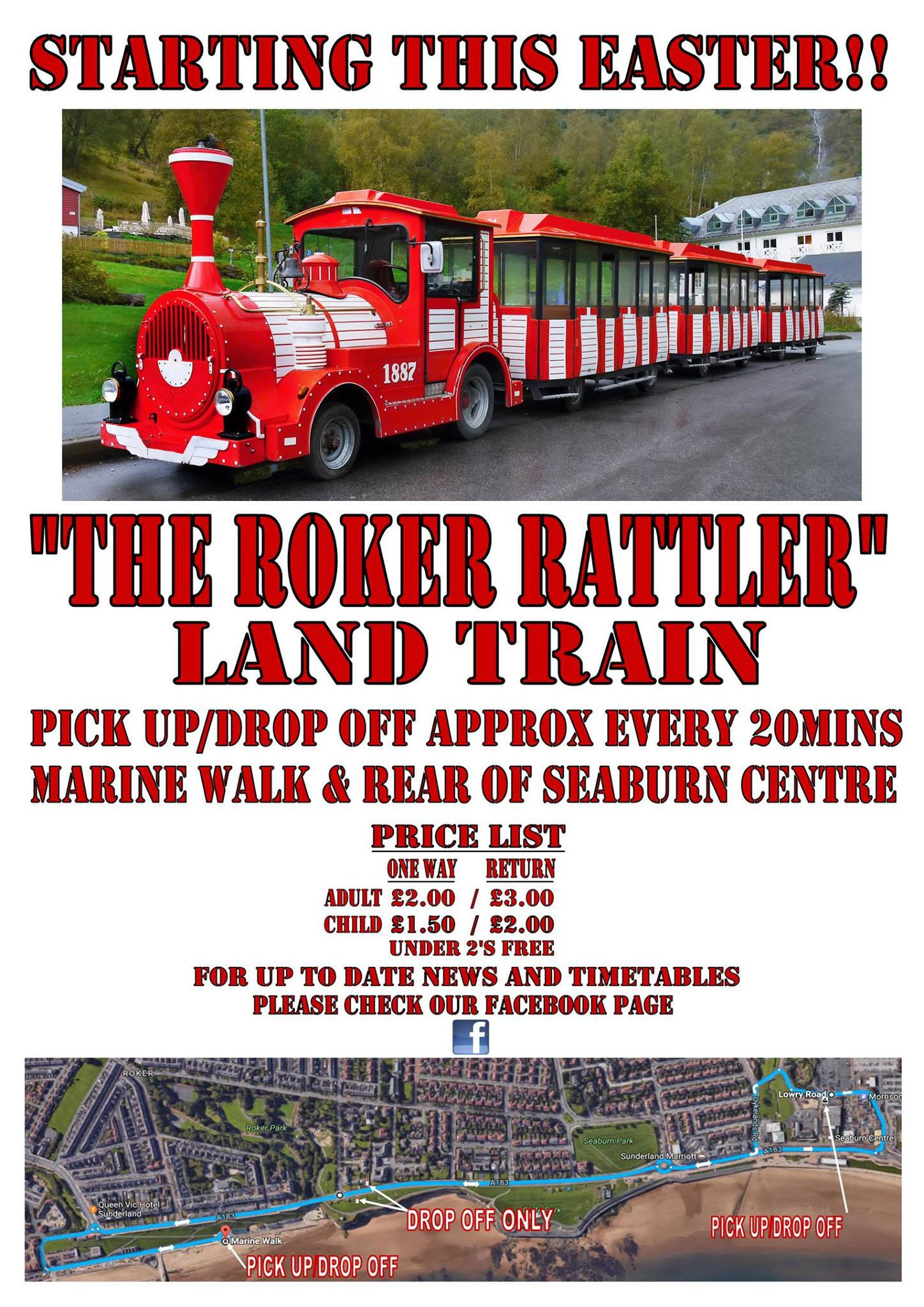 Roker Rattler Land Train Marine Walk Roker To Seaburn Sunderland SR6