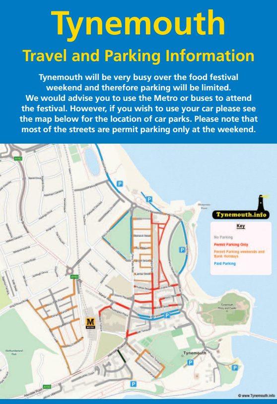 Tynemouth Food Festival Map
