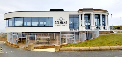 Colmans Seafood Temple Sea Road South Shields NE33 2LD Exterior