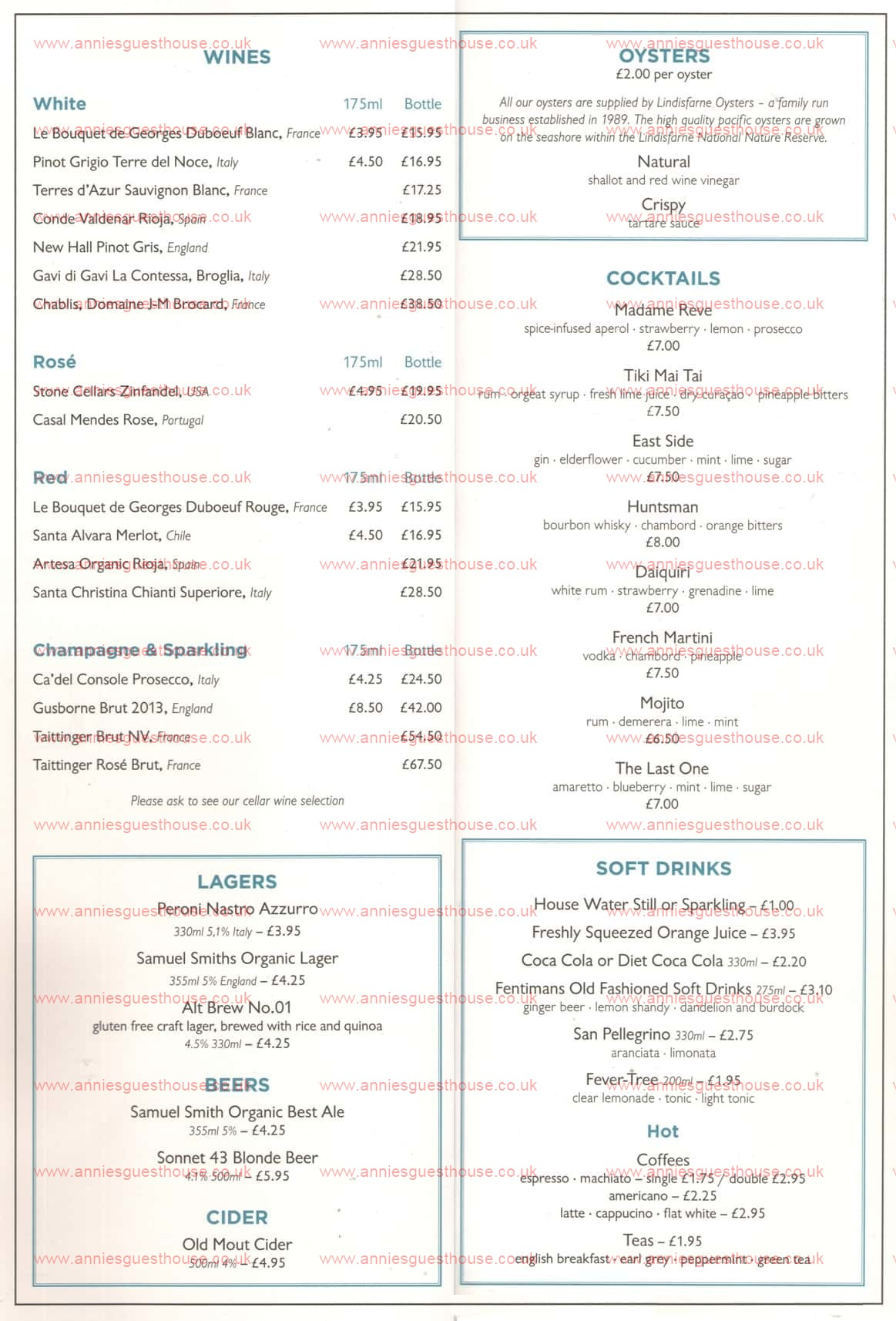 Colmans Seafood Temple Sea Road South Shields Menu 2