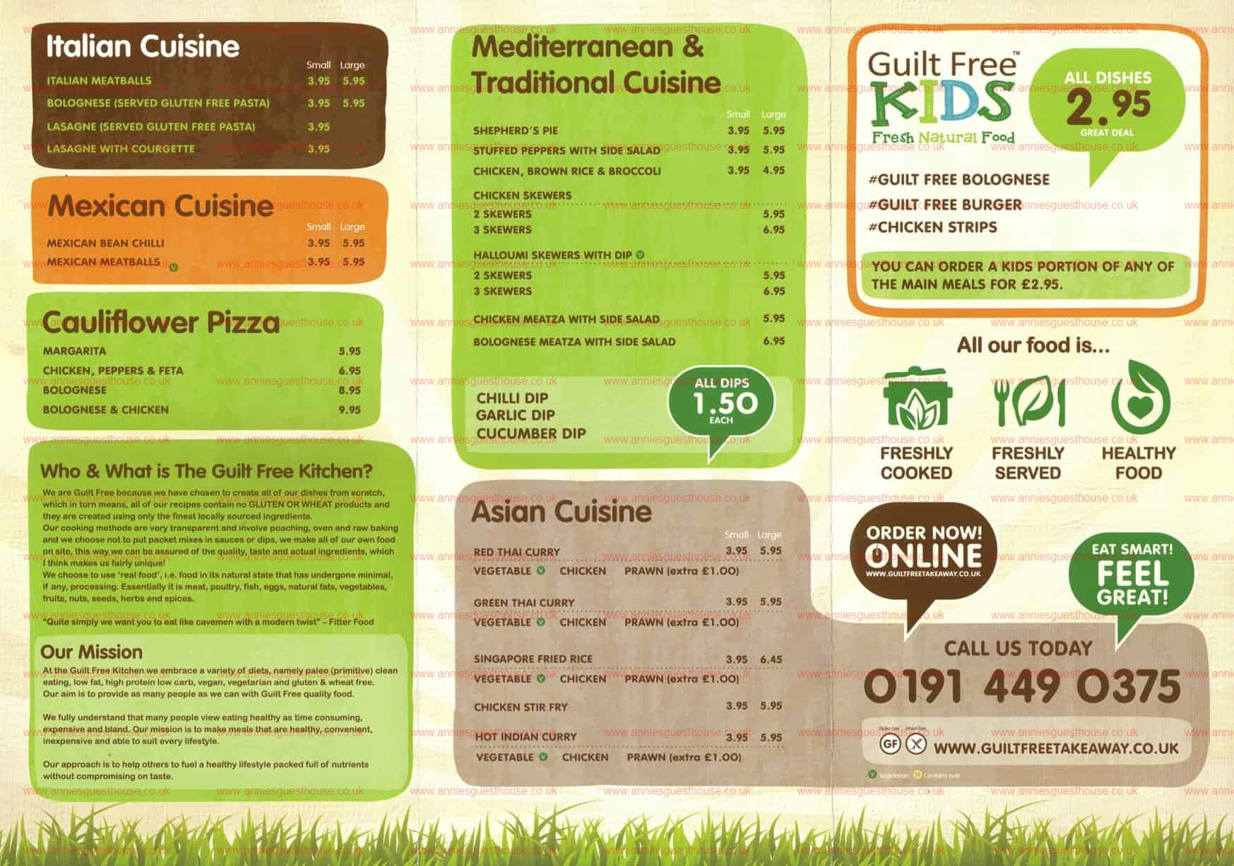 Guilt Free Kitchen & Take-Away Sea Winnings Way Westoe Crown Village South Shields NE33 3PE Menu 2