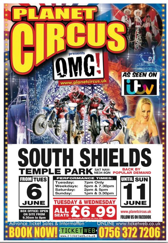 Planet Circus At Bents Park In South Shields