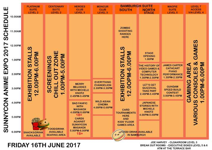 SunnyCon 2017 Friday 16th June 2017