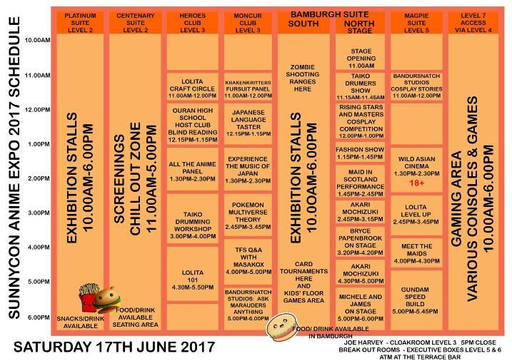 SunnyCon 2017 Saturday 17th June 2017