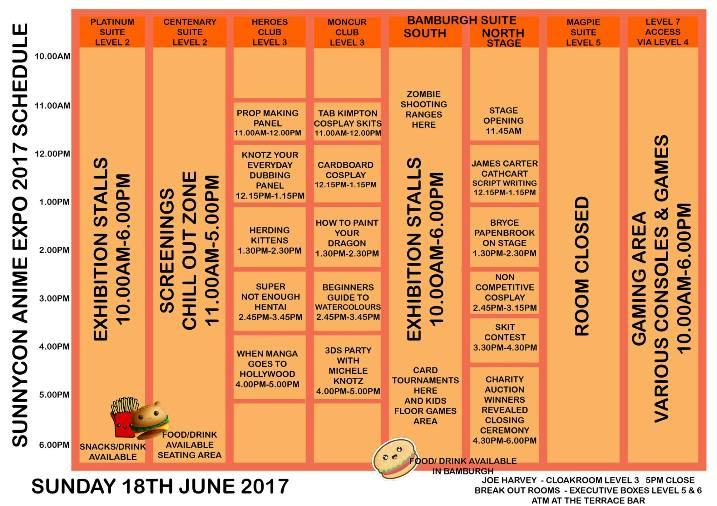 SunnyCon 2017 Sunday 18th June 2017
