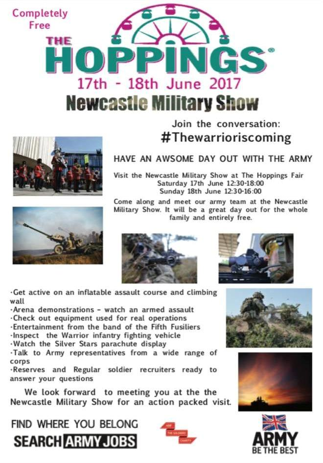 Newcastle Military Show 2017 The Hoppings Newcastle upon Tyne Town Moor