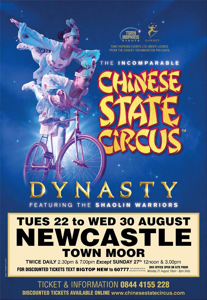 Chinese State Circus At Newcastle Town Moor
