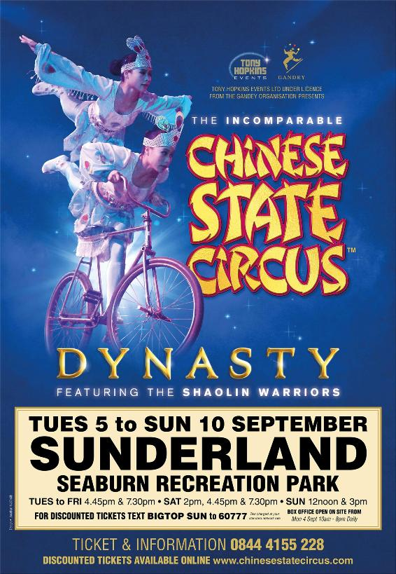 Chinese State Circus At Seaburn Recreation Park Sunderland SR6 8DB