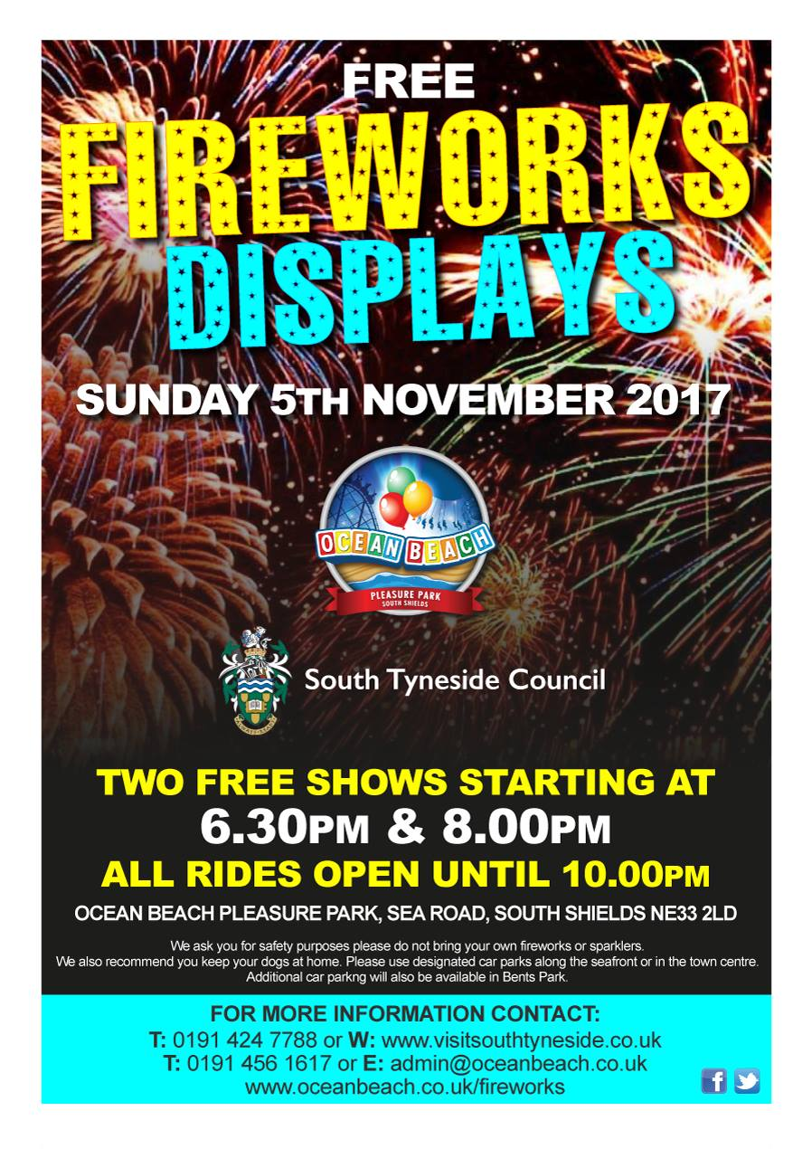 Ocean Beach South Shields Free Firework Displays