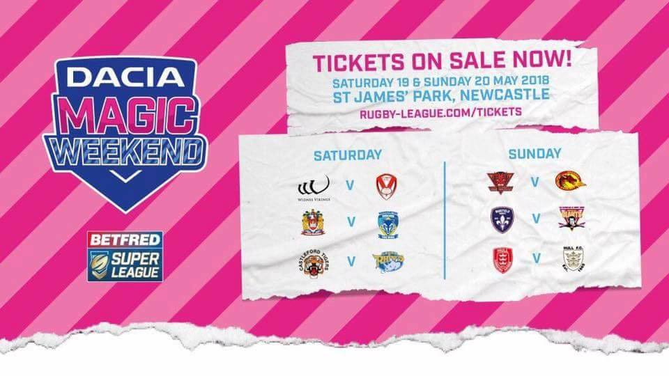 Magic Rugby Weekend 2018 At St James' Park Newcastle upon Tyne NE1 4ST