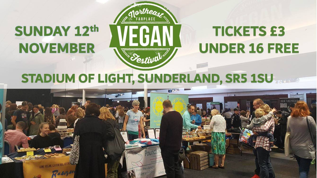 North East Vegan Festival Stadium of Light Sunderland SR5 1SU