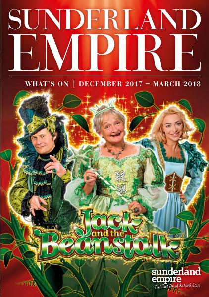 Sunderland Empire Theatre What's On Winter 2017 - 2018 Cover